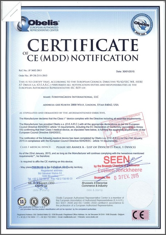 European CE certification