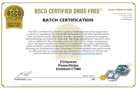 Drog free certification